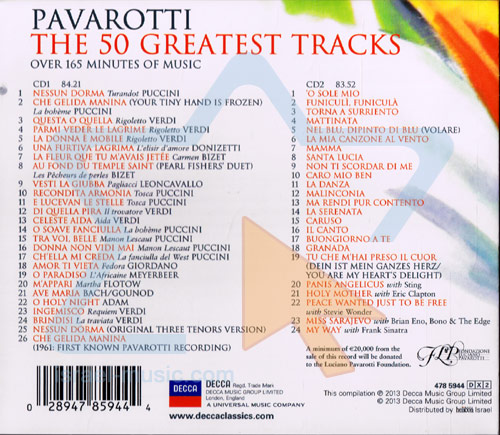 The 50 Greatest Tracks by Luciano Pavarotti
