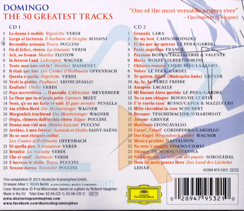 Domingo - The 50 Greatest Tracks के द्वारा Placido Domingo