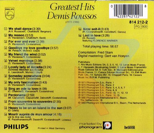 Greatest Hits by Demis Roussos