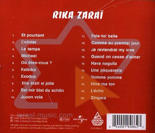 Sings French by Rika Zarai