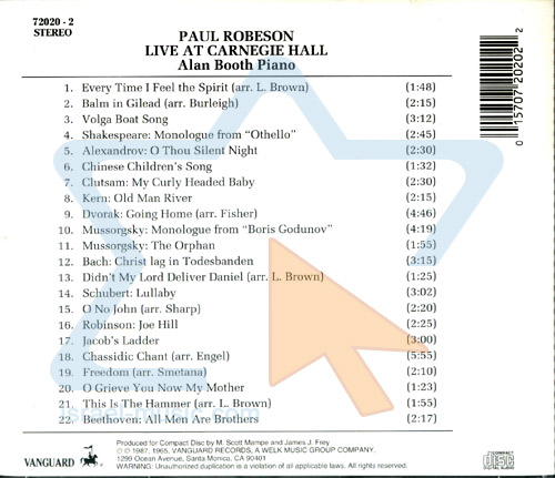 Live at Carnegie Hall by Paul Robeson