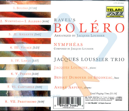 Ravel - Bolero by Jacques Loussier