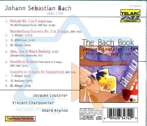 The Bach Book by Jacques Loussier