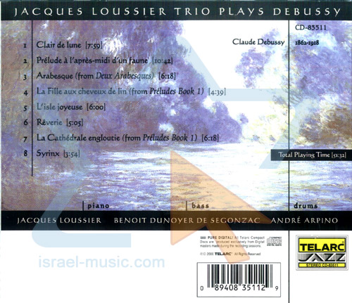 Plays Debussy by Jacques Loussier