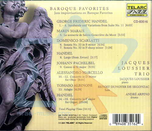 Baroque Favorites Par Jacques Loussier