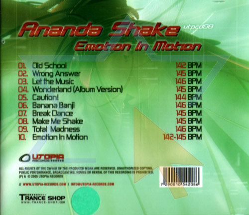 Emotion in Motion by Ananda Shake