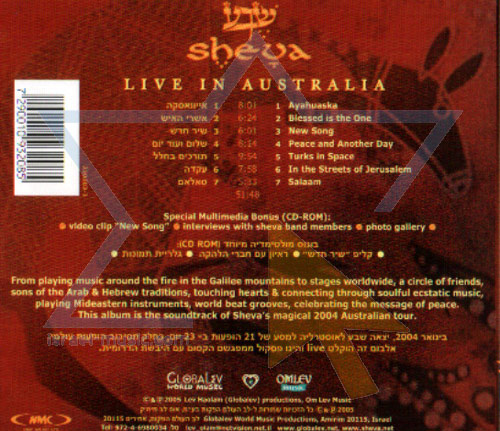 Live in Australia by Sheva