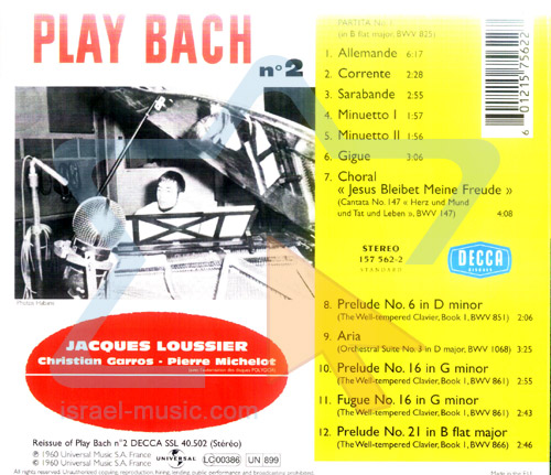 Play Bach - Vol. 2 by Jacques Loussier