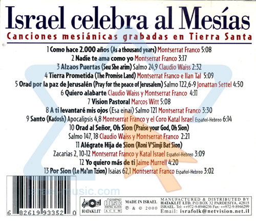 Israel Celebra el Mesias by Various