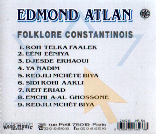 Folklore Constantinois Par Edmond Atlan