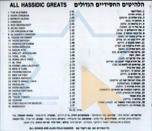 All Hassidic Greats Klezmer Fiesta by Israel Zohar