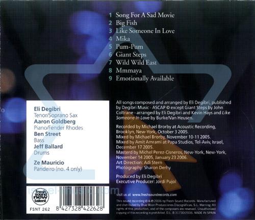Emotionally Available by Eli Degibri Quintet