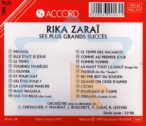 Ses Plus Grands Succès by Rika Zarai