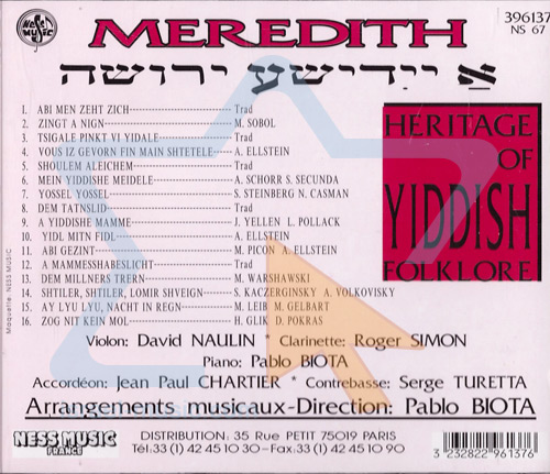 Heritage of Yiddish Folklore by Meredith