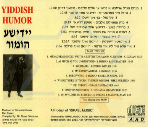Yiddish Humor Vol. 1 by Various