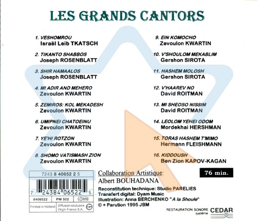 Les Grands Cantors by Various
