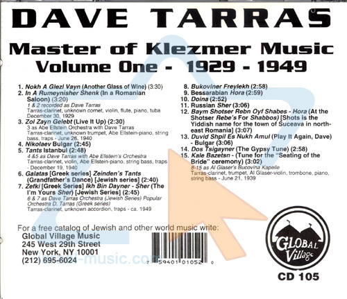 Master of Klezmer Music by Dave Tarras