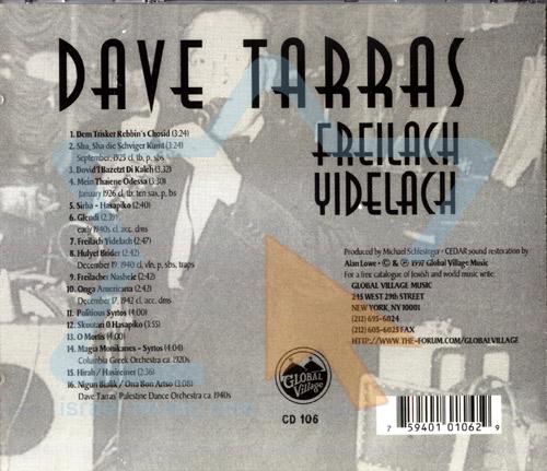 Master of Klezmer Music Vol. 2 - Freilach Yidelach by Dave Tarras