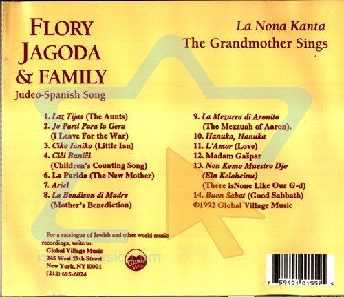 The Grandmother Sings by Flory Jagoda