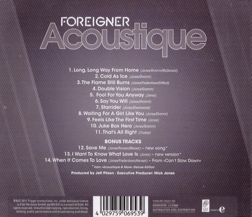 Acoustique by Foreigner