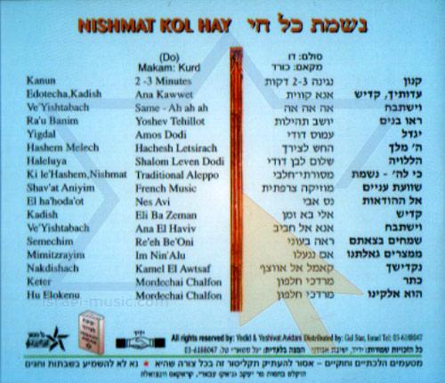Nishmat Kol Hay Vol. 7 by Cantor Yehezkel Zion