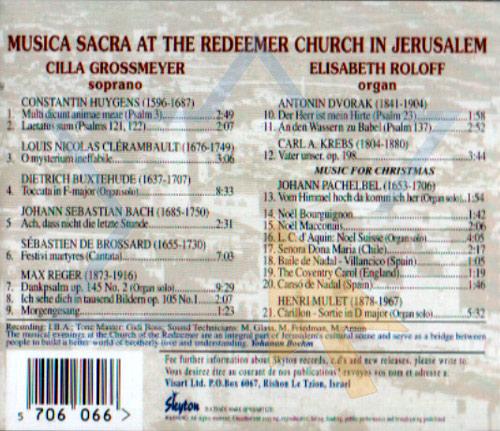 Musica Sacra by Cilla Grossmeyer