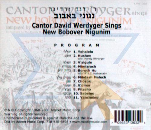 New Bobover Nigunim by Cantor David Werdyger