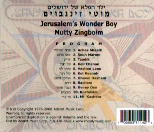 Jerusalem's Wonder Boy by Moti Zingboim