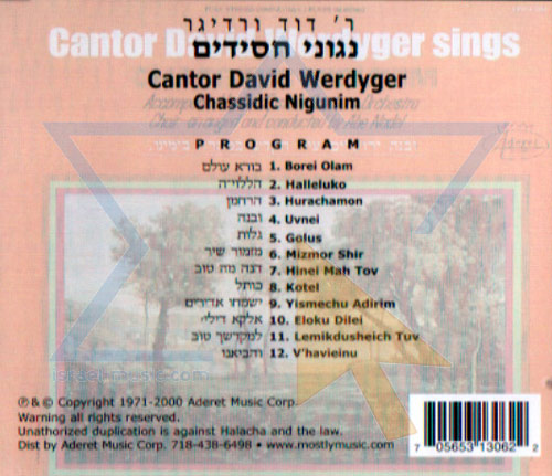 Chassidic Nigunim by Cantor David Werdyger