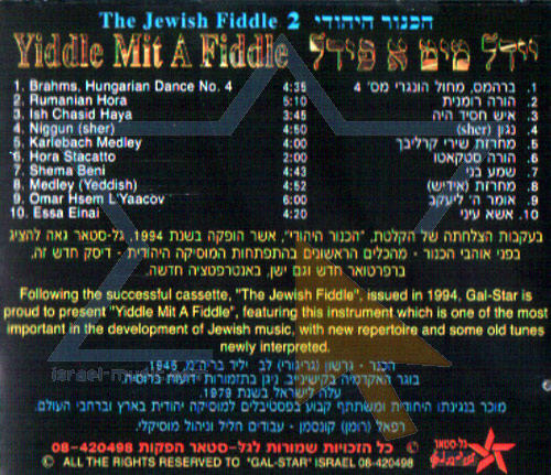 The Jewish Fiddle 2 by Gershon (Gregory) Lev