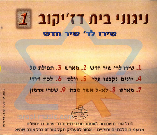 Niguney Beit Djikov Vol. 1 by Moshe Mordechai Rosenblum