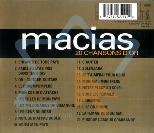 20 Chansons D'or by Enrico Macias