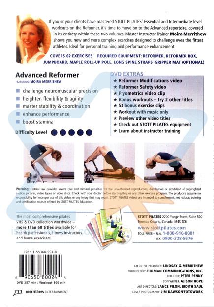 Stott Pilates - Advanced Reformer by Moira Merrithew