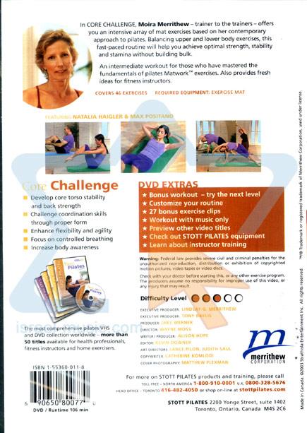 Stott Pilates - Core Challenge Par Moira Merrithew