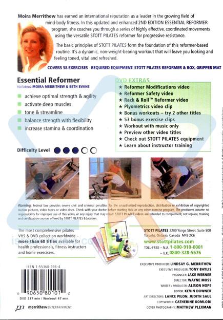 Stott Pilates - Essential Reformer by Moira Merrithew