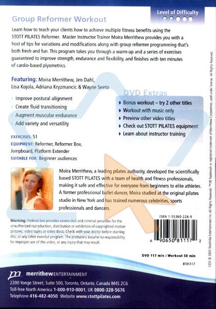 Stott Pilates - Group Reformer Workout by Moira Merrithew