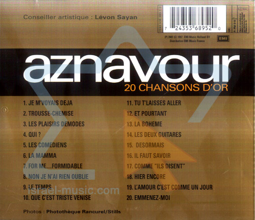 20 Chansons Dor by Charles Aznavour