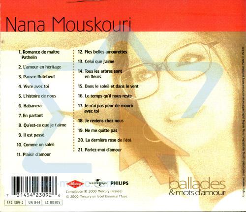 Ballades and Mots D'amour Par Nana Mouskouri