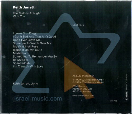 The Meody at Night, with You by Keith Jarrett