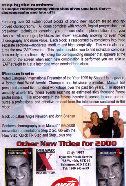 Choreography 2 Go Vol. 2 by Marcus Irwin