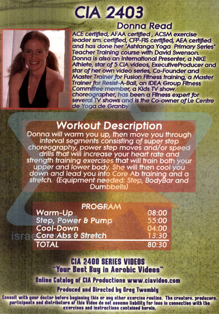 Step, Power and Pump by Donna Read