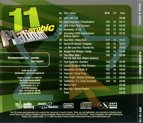 Aerobic Platinum 11 by Various