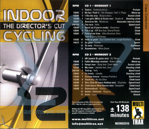 Volume 12 - The Director's Cut by Indoor Cycling
