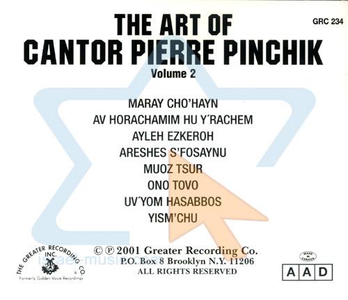 The Art of Cantor Pierre Pinchik Vol. 2 by Cantor Pierre Pinchik