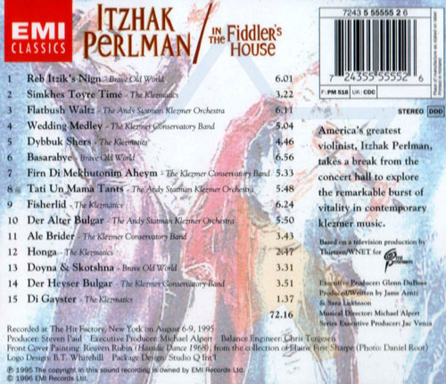Klezmer - In the Fiddler's House by Itzhak Perlman