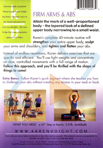 Firm Arms and Abs by Karen Voight