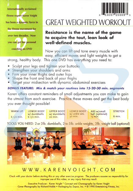 Great Weighted Workout by Karen Voight