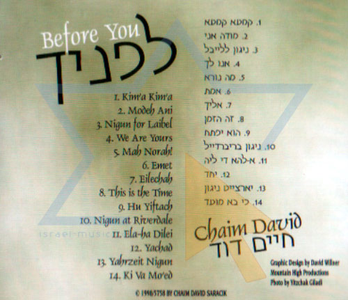 Before You by Chaim Dovid