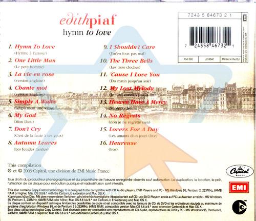 Hymn to Love Par Edith Piaf