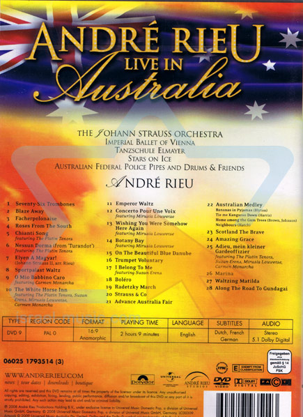 Live in Australia by André Rieu